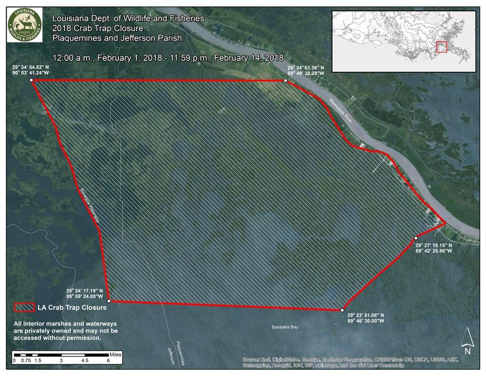 Barataria Basin 2018 Crab Trap Removal