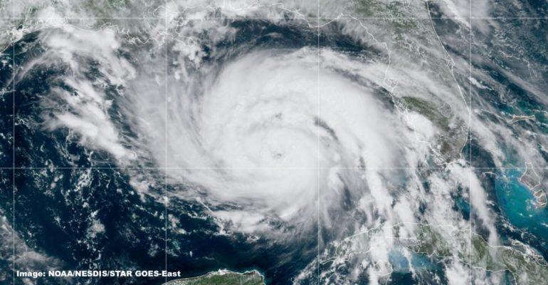 NOAA satellite image of Hurricane Ida, August 28, 2021